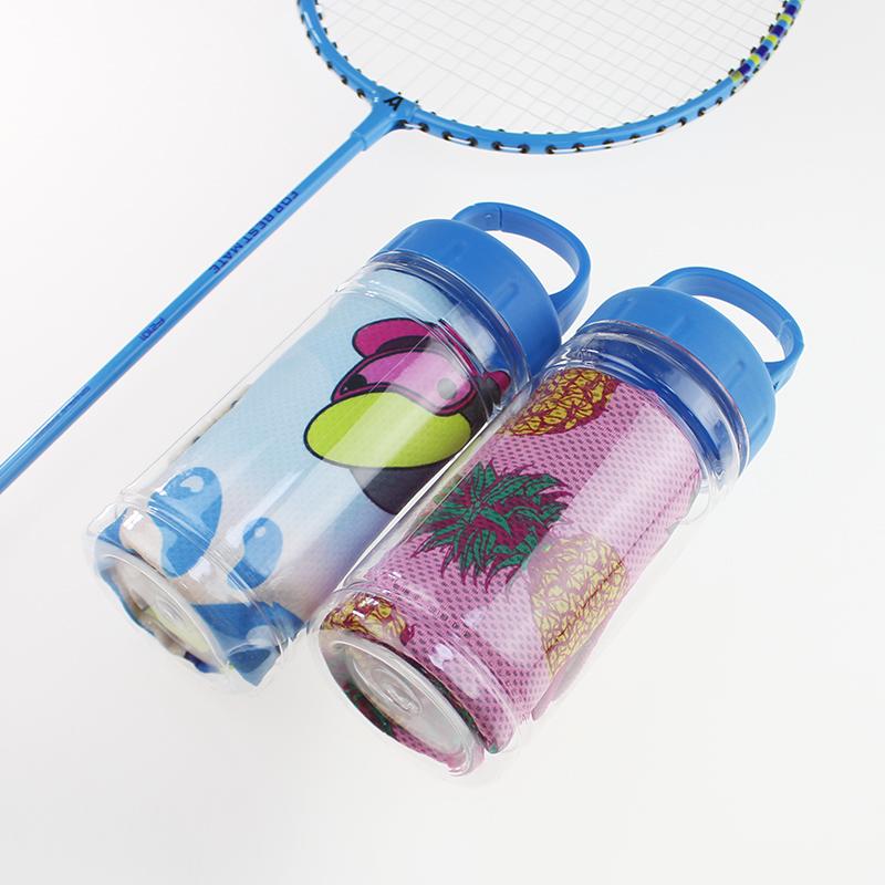 Custom Polyester Instant Sports Cooling Towel for Yoga Gym or Running