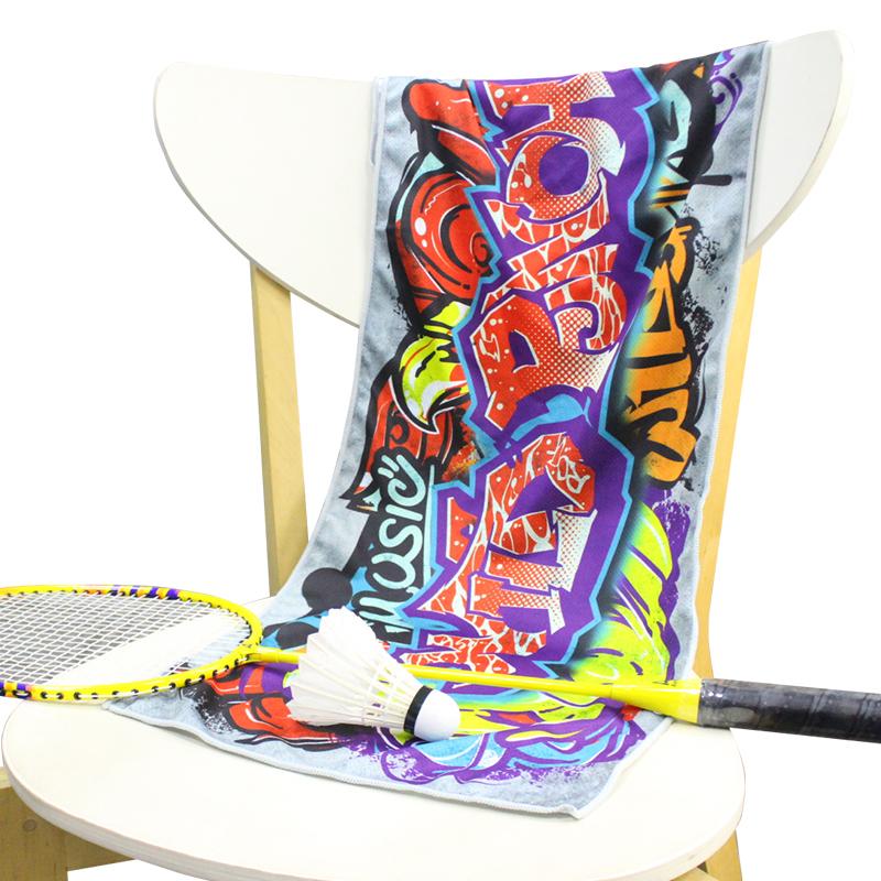Best selling Graffiti print 30*100cm outdoor gym beach towel Sport Cooling Towel