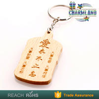 promotional classic natural wood carving keychain