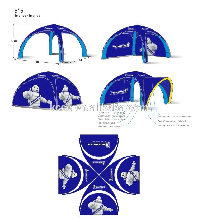 Hot popular easy assemble 4X4 Outdoor inflatable advertising event tent