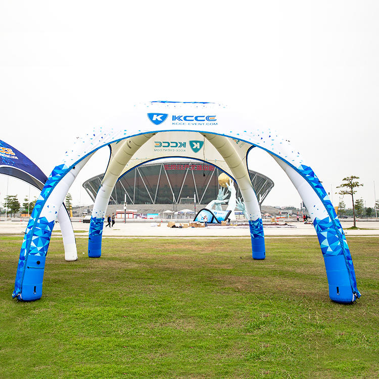 Inflatable dome canopy tent for events with optional walls and awning