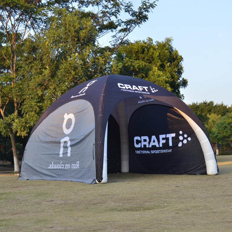 Inflatable event tent with side walls, inflatable pipe tent for trade show