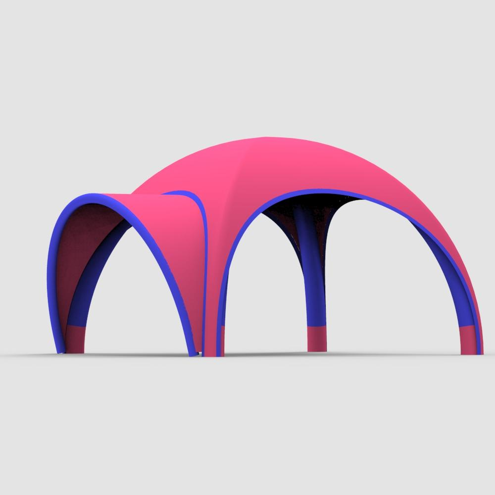 New Arrival air tube anti-UVcabin 6*6m SUV promotion sales display inflatable dome tent//