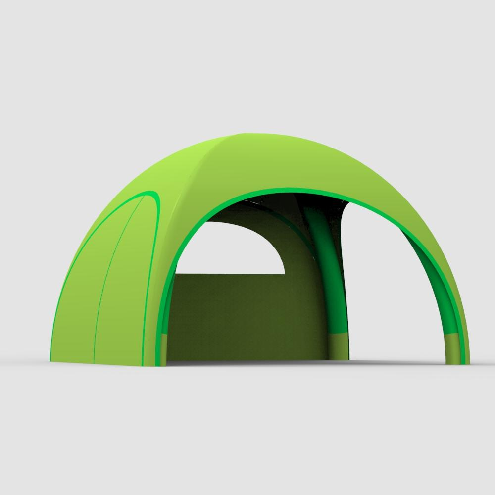 Full printing removable rental igloo 4x4m trade show advertising inflatable spider tent//