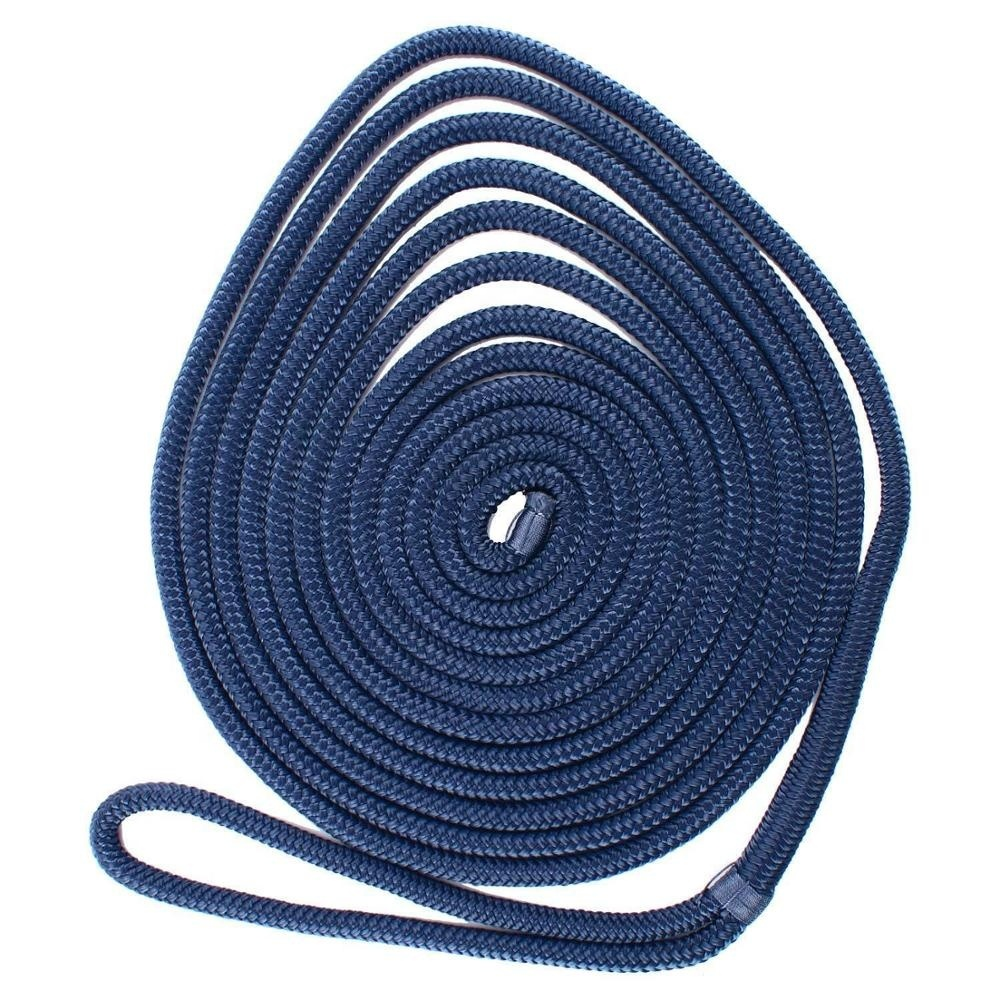 double braided nylon rope with sening treatment in spliced eye and head