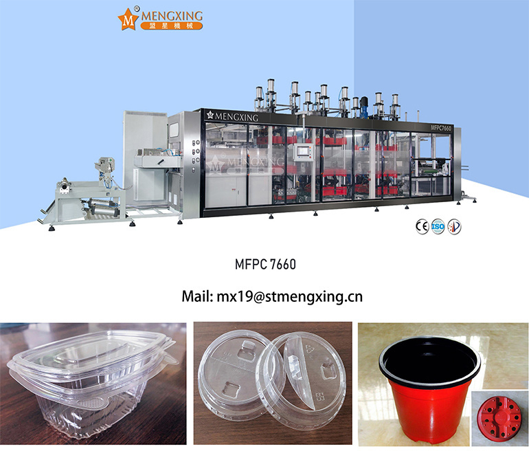 Plastic Plate Container Clamshell Package Thermoforming Forming Making Machine