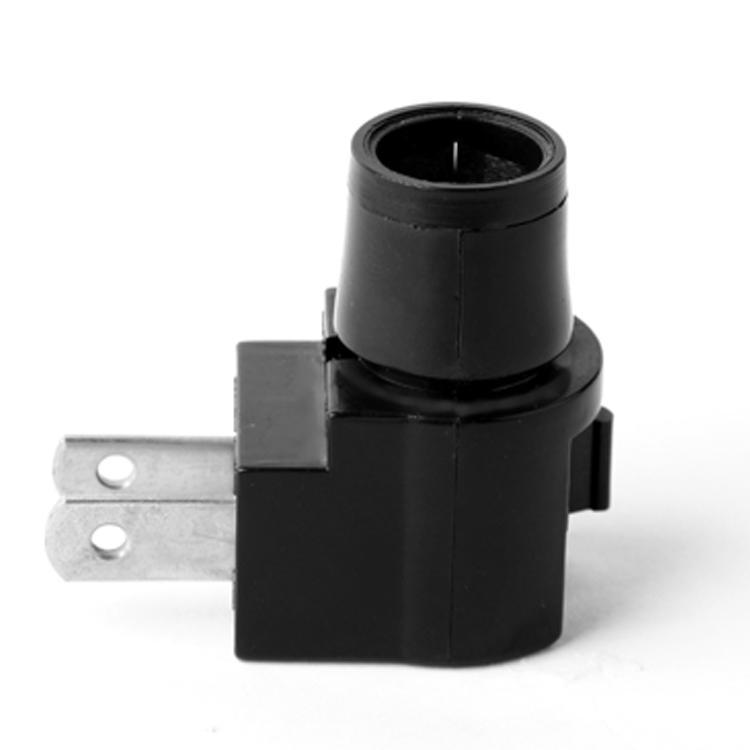 black color lamp holder socket types bulb E12 ETL electrical plug in night light base black color