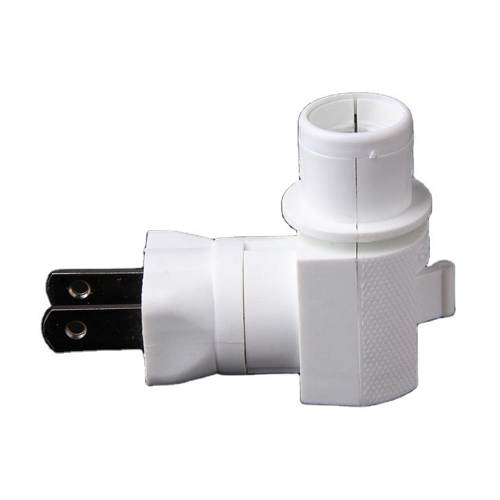 OEM 073A ETL approved USA Switch socket lamp holder rotating night light socket plug in ceramic with 5W or 7W and 110V or 120V