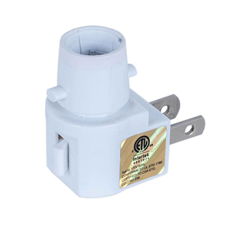 ETL approved USA Switch Pakistan Salt Wall lamp socket Night Light electrical plug inholder and 110V or 120V