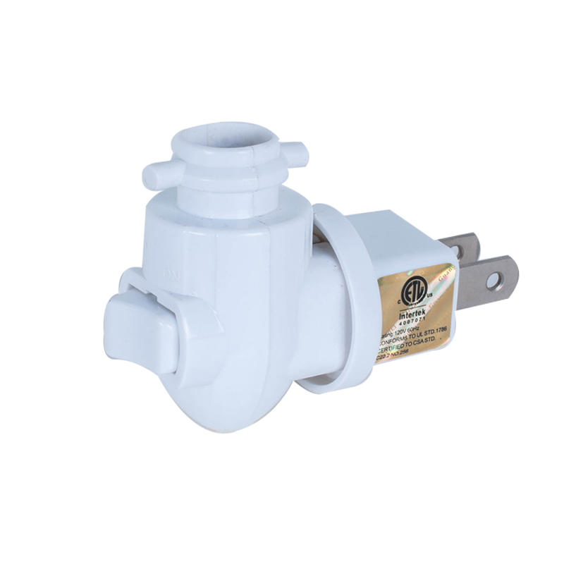 ETL approved USA night light electrical lamp socket holder with rotating plug in wall USA plug socket 110v