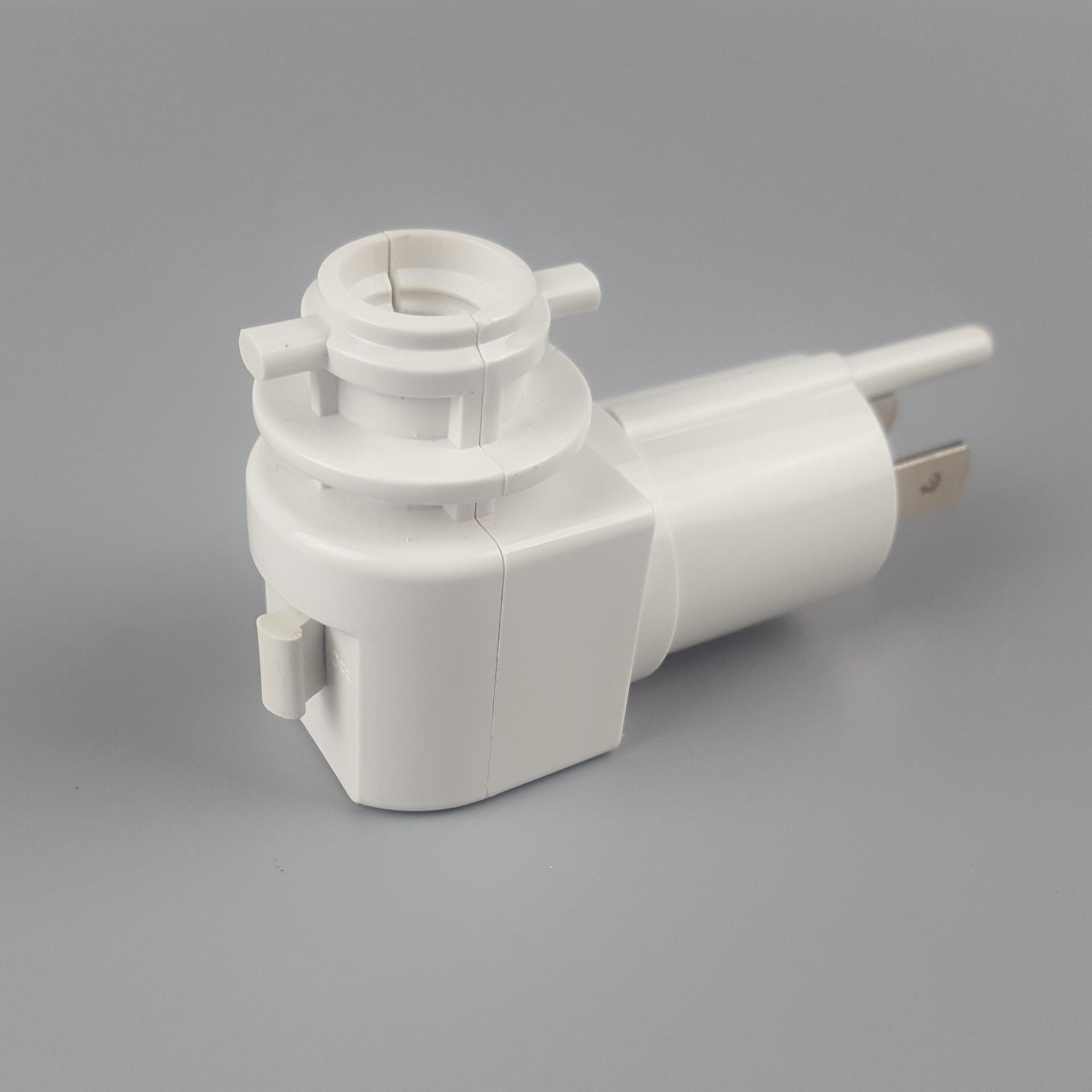 E12 lamp socket holder ETL USA canada Switch salt night light electrical plug 360 rotating and plug in for salt lamp