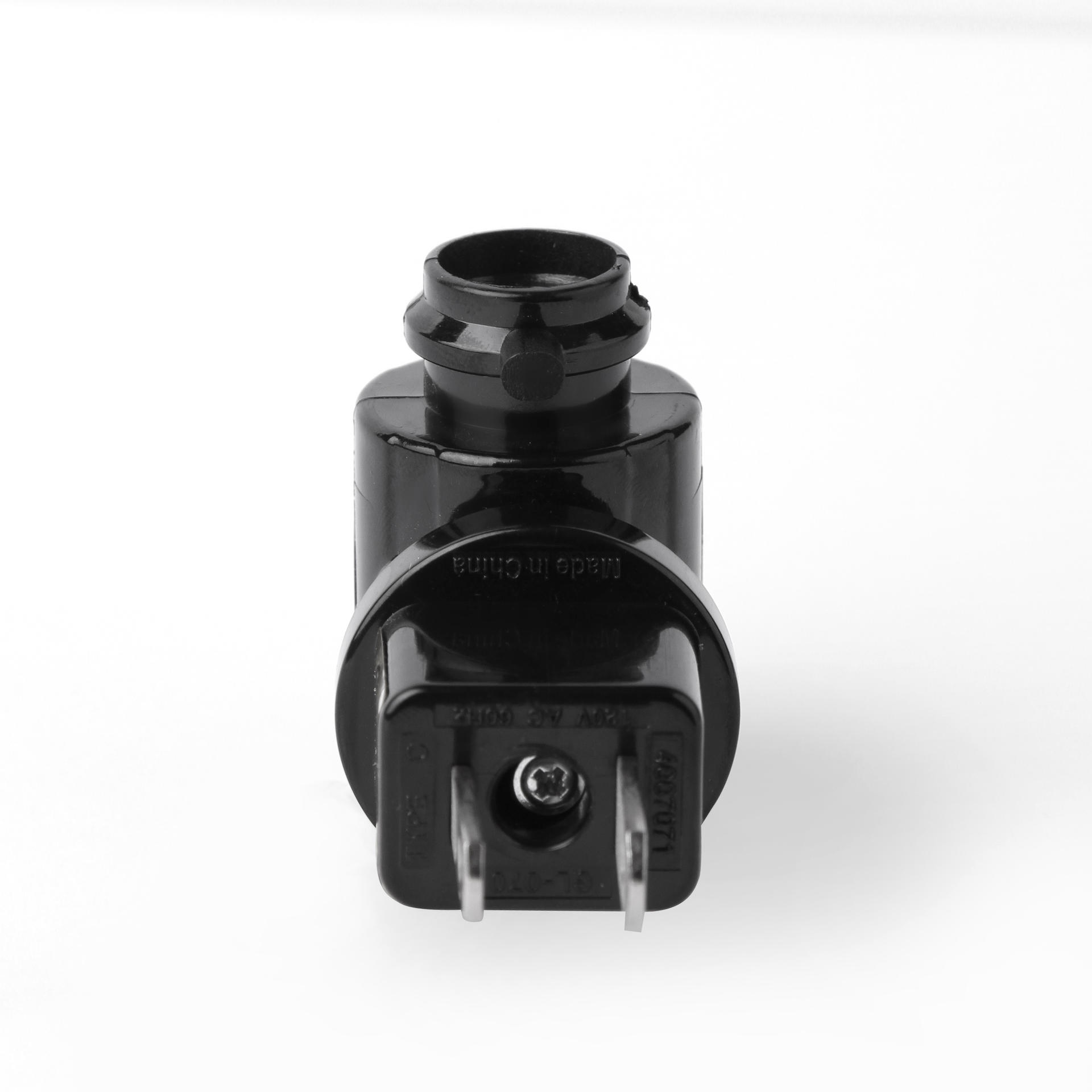 ETL USA plug in lamp holder electrical socket E12 for night light black color GL-070