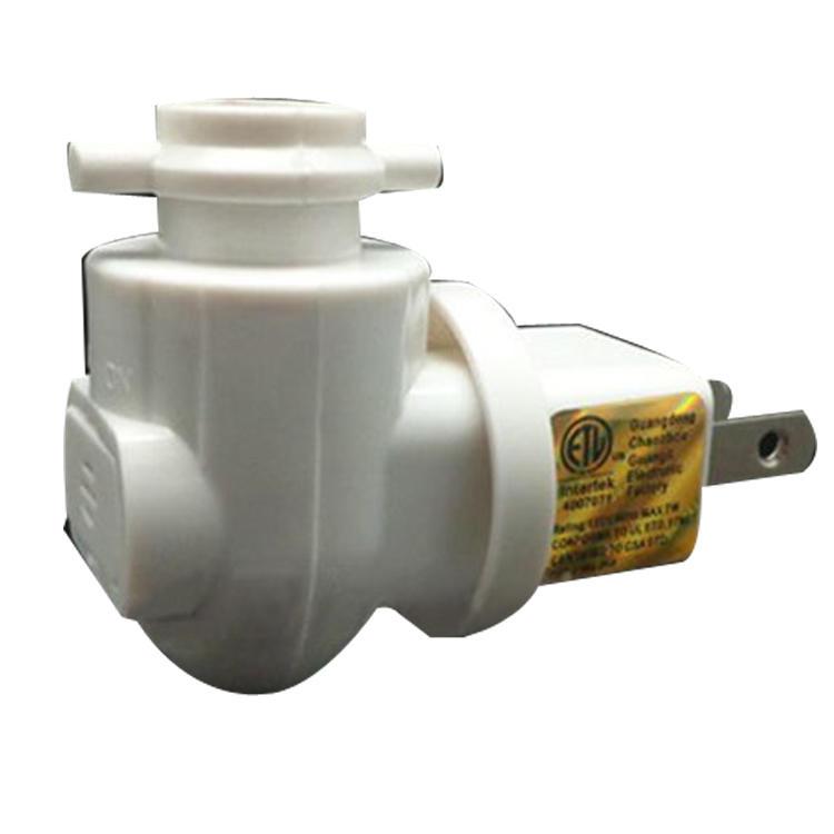 ETL approved USA Pakistan Salt Wall lamp socket sensor Night Light holder rotating electrical plug in 110V and 250V
