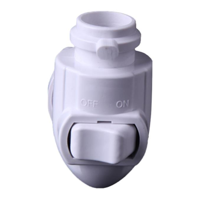 OEM ETL approved USA E12 Switch night light socket lamp holder and plug in with 5W or 7W or 15W and 110V or 120V