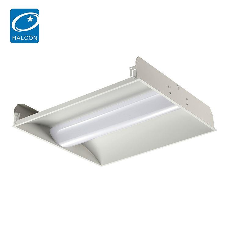 Low power plastic 2x2 2x4 24 36 42 50 w linear led troffer