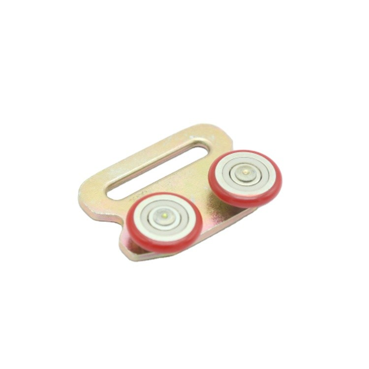 Nylon SteelYellow Zinc plated 2 WHEELS SIDE CURTAIN ROLLER with mounting holes