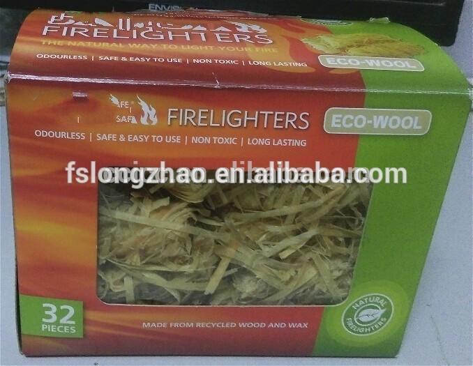 Wooden Wool Roll natural wood veneer roll For BBQ Firelighter