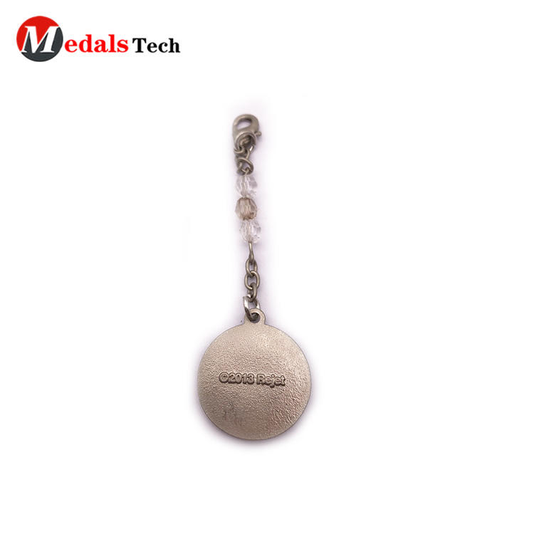 High quality custom metal clock shaped round giftskeychains