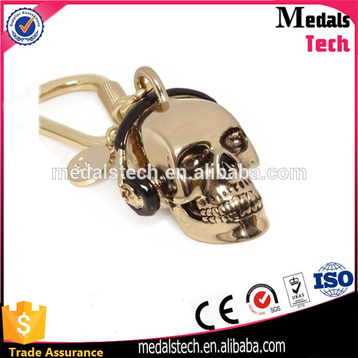 Factory direct custom personalized Skull Heads keychain for sale