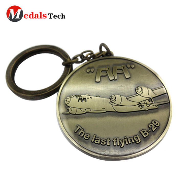 Custom logo zinc alloy anchorshaped made uniquemetal keychains