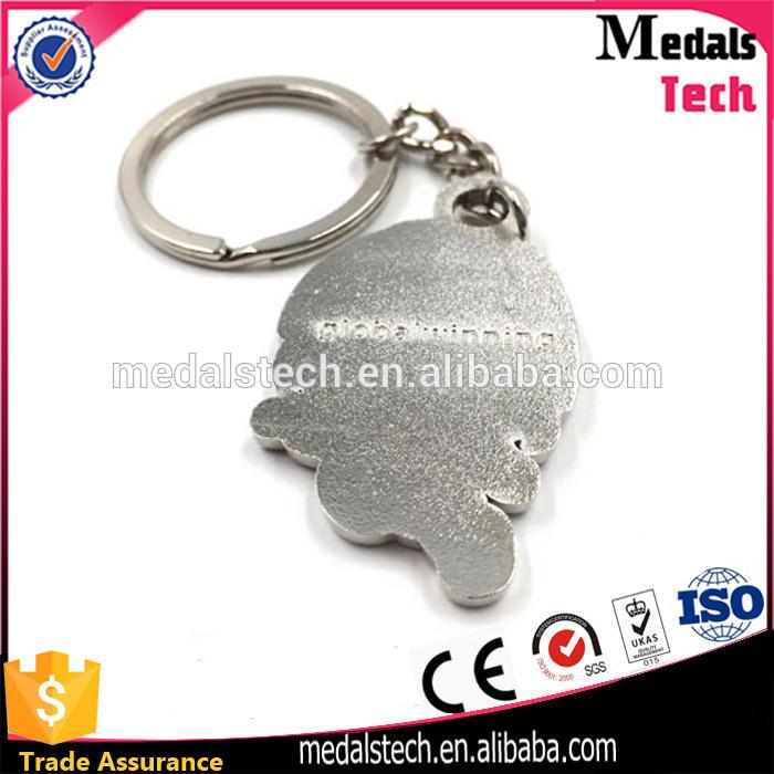 Wholesale cute custom high quality low price nickle plated soft enamel metal cartoon lion keychain