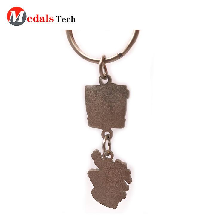 Cheap creativecolor filled map scotland souvenir metal keychain