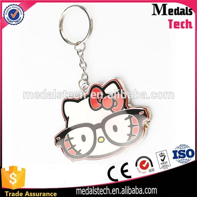 Factory manufacturer custom made zinc alloy heart shaped keyring for lover
