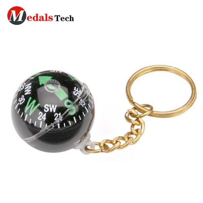Eco-friendly compass souvenir gifts uniquemetal keychain