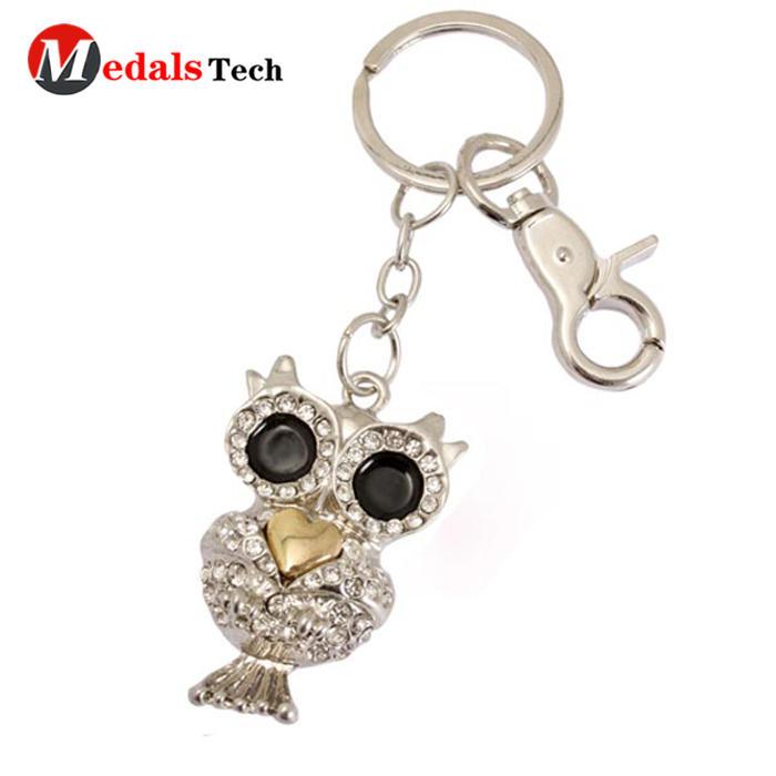Key Chain Ring,zinc alloy die casting keychain,custom logo metal crystal keyring