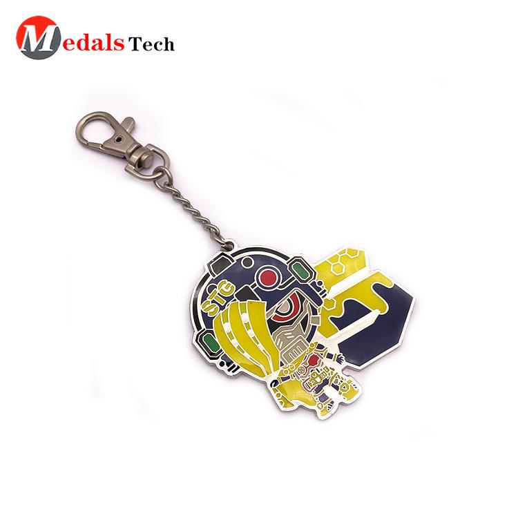 No minimum order acrylic anime custom printing logo keychain