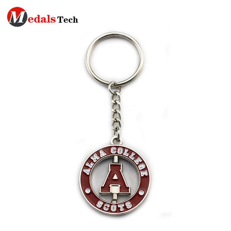 Promotionaldouble sides sticker design round metal keychain