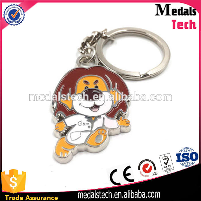 Wholesale cute custom high quality low price nickle plated soft enamel metal cartoon lion keychain