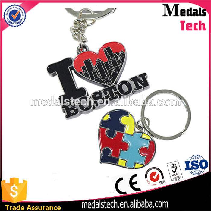 Good quality low price metal soft enamel keychain keyring custom mexico key chain