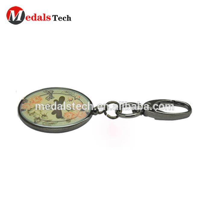 Make your own logo novelty metal custom printed logo cheap keychain
