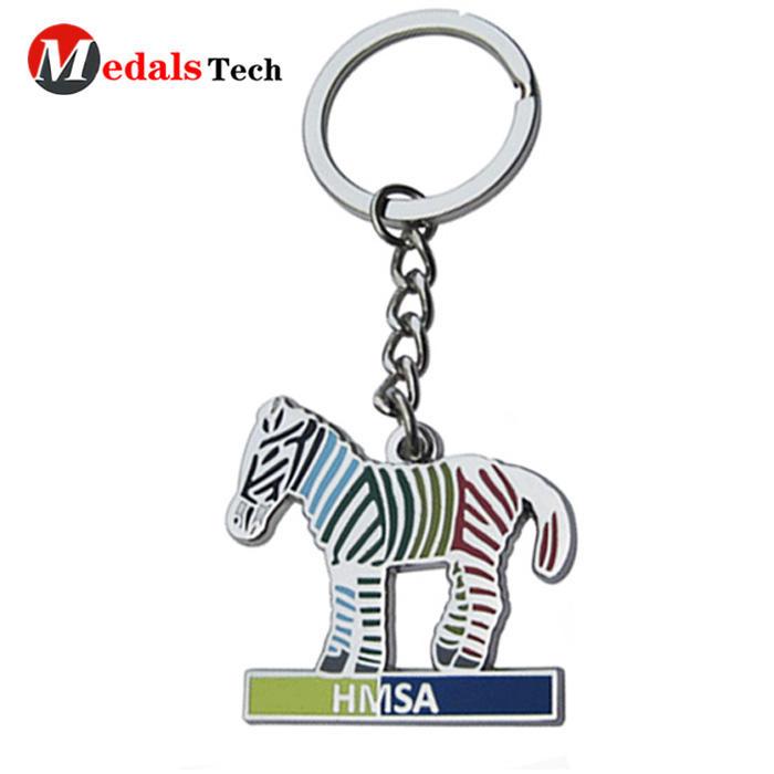 Promotional custom horse shaped souvenir metalkeychain