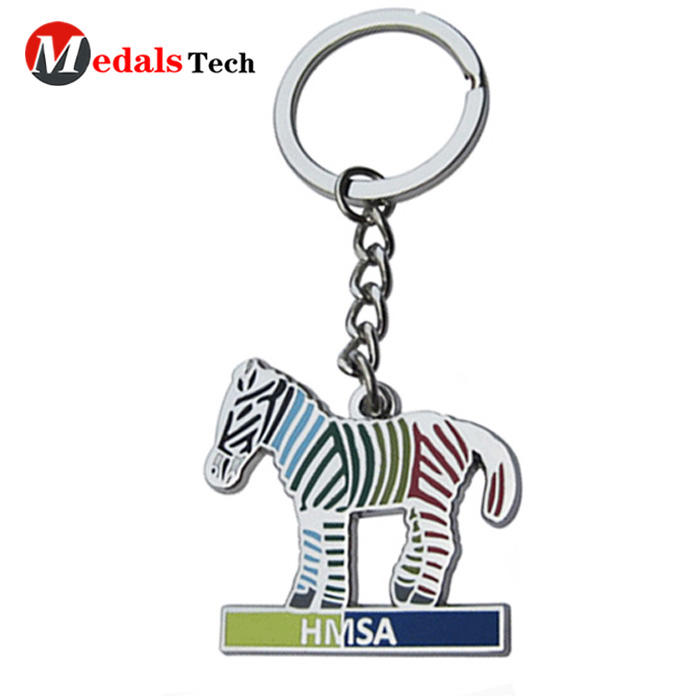 Promotional custom horse shaped souvenir metalkeychain