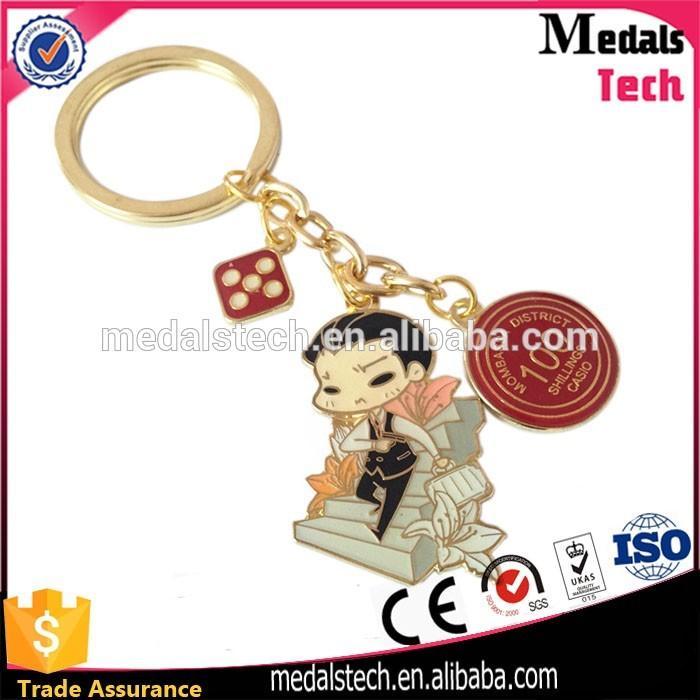 Hot sale cheap custom dog shaped leather keychain for souvenir