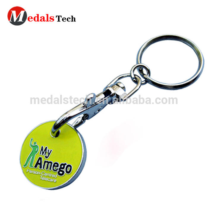 Fashion wholesale custom red heart shape leather keychain with split ring