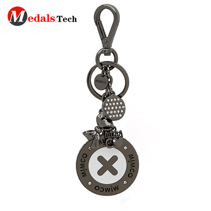2019 custom beautiful metal gift logo keychain with dog hook