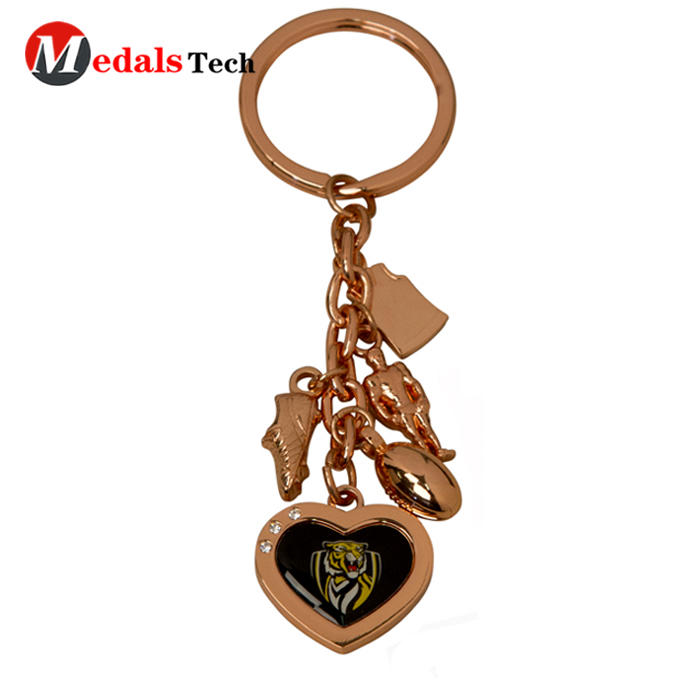 Personalized customspray metal 3d house shaped keychain