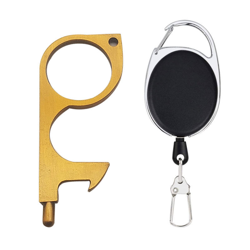 Amazon Popular Touch Screen Bottle OpenerSafe Clean Touch Tool Keychains Key No Touch Door Opener with Laser logo
