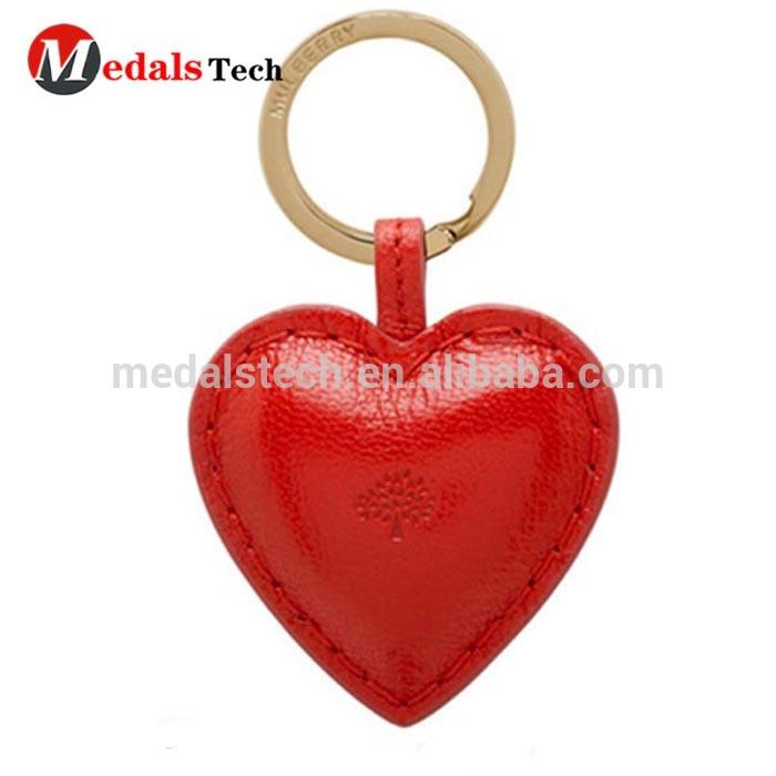 New welcome custom colorful leather cupid heart photo frame metal keychain