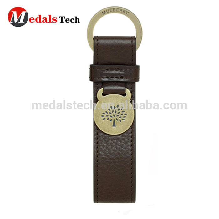 Wholesale custom cheap various car leather keychain with metal logo