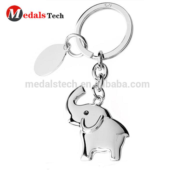 High quality custom design 3d plated black nickle metal skull shape keychain