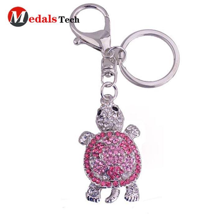 Factory manufacturer custom shinny silverblank zinc alloy keychain