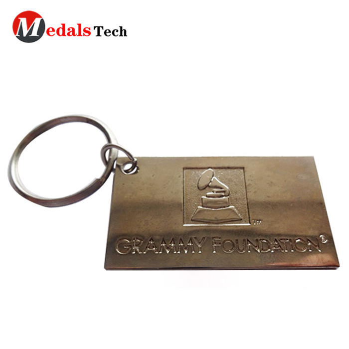 Custom aluminum engraved logo square cardmetalkeychain