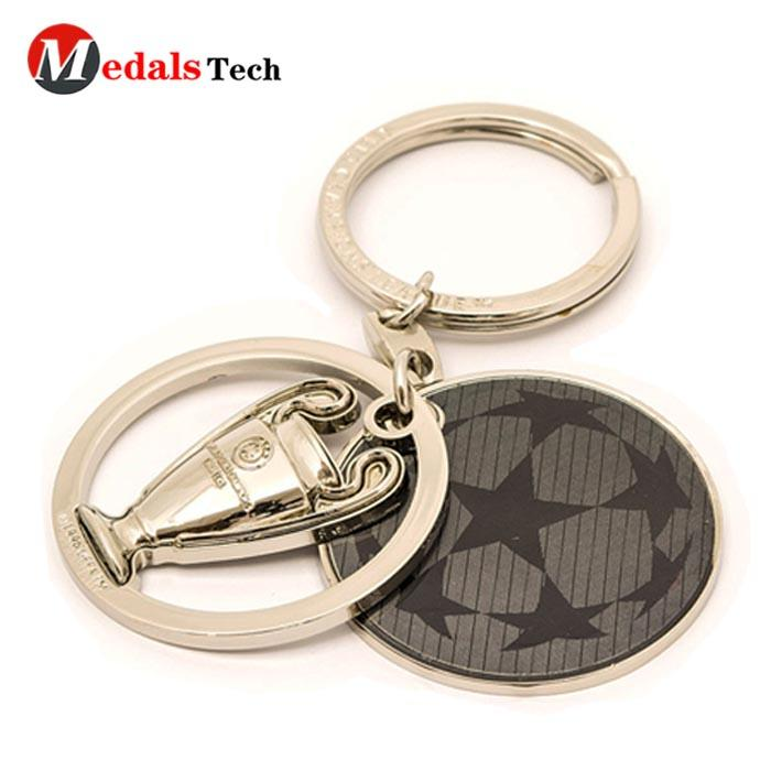 Cheap customized metal black nickle charm souvenirkeychains