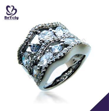 Hollow design cubic stone bijoux silver 925