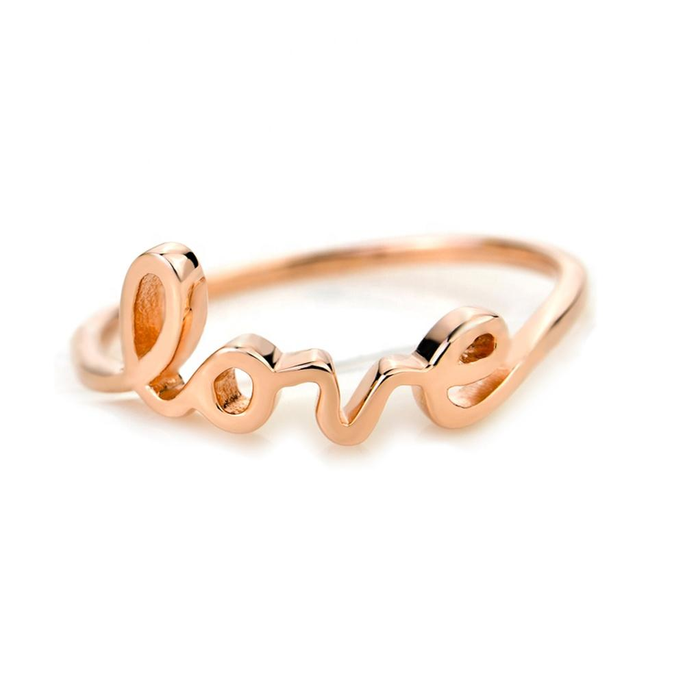 Fancy silver custom design gold plated letter v rings