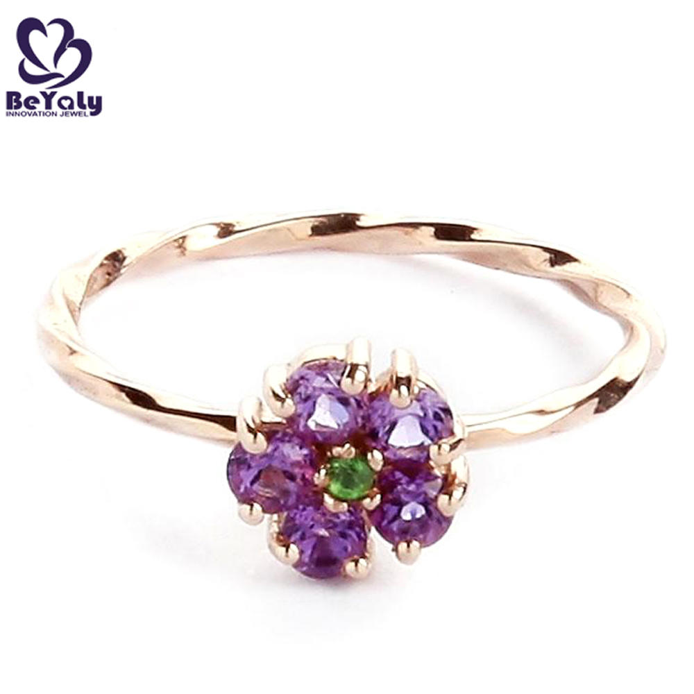 Lady wholesale flower cubic zircon silver jewelry bangkok